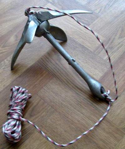 как крепить веревку якоря на лодку пвх