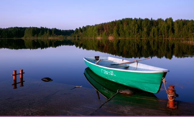 аренда дома в карелии с лодкой