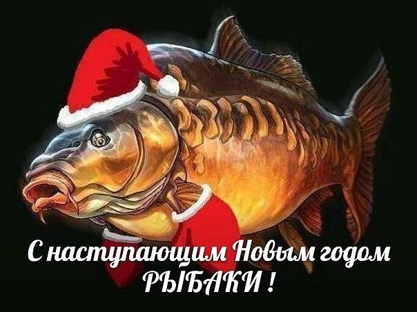 картинка рыбак с новым годом